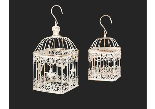 Square Bird Cage White