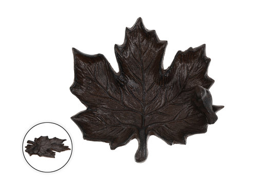Maple Leaf Coin Plate 8""