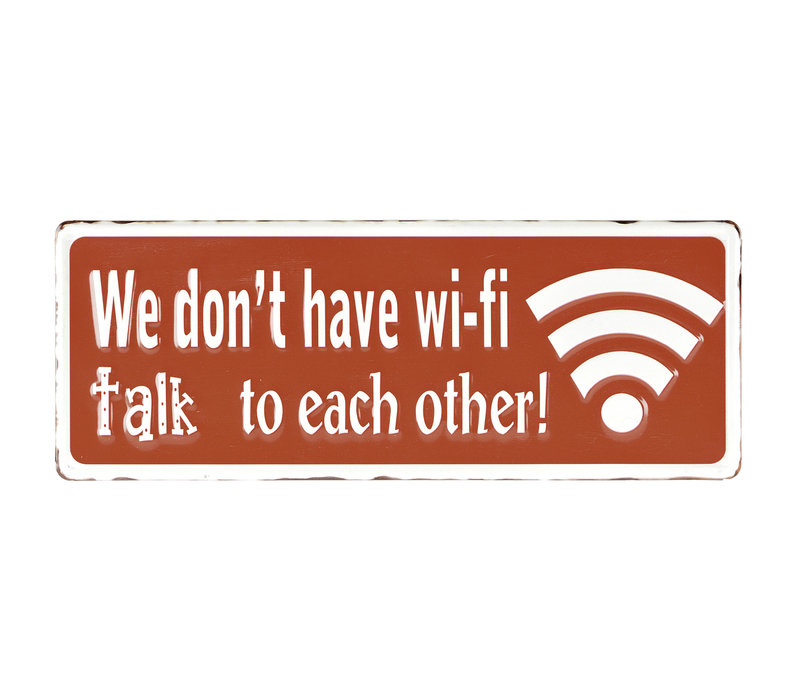 Metal Wifi Sign 16x6""