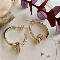 Anneke Knotted Hoop Earrings