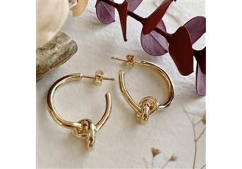 Pika & Bear Anneke Knotted Hoop Earrings