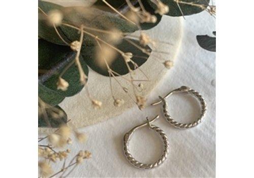 Pika & Bear Helena Textured Hoop Earrings