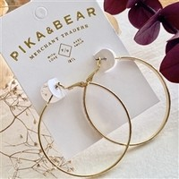 Lars Textured Hoop Earrings