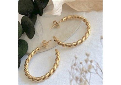 Pika & Bear Psyche Textured Hoop Earrings