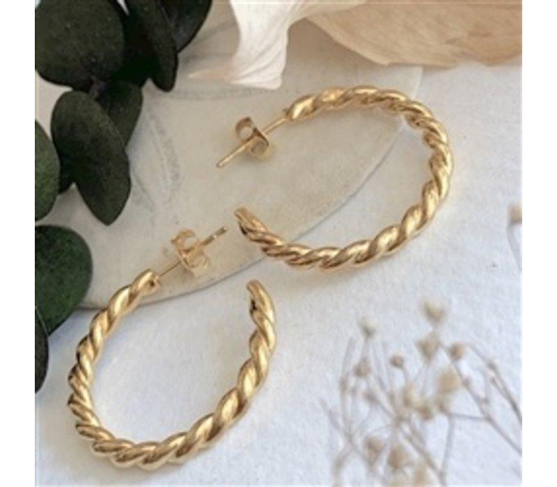 Psyche Textured Hoop Earrings