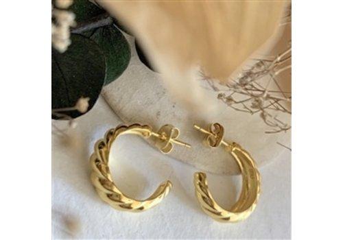 Pika & Bear Dune Textured Hoop Earrings