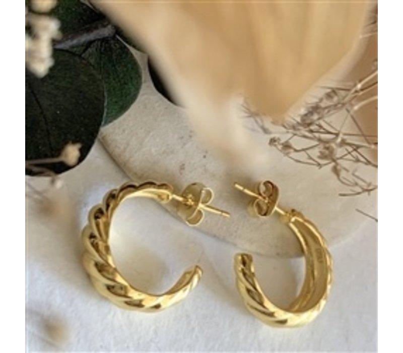 Dune Textured Hoop Earrings