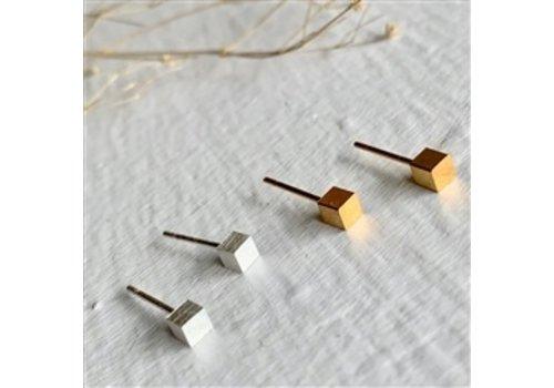 Pika & Bear 6 Minimalist Cube Studs