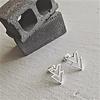 Pika & Bear Ike Stainless Steel Double V Chevron Earrings