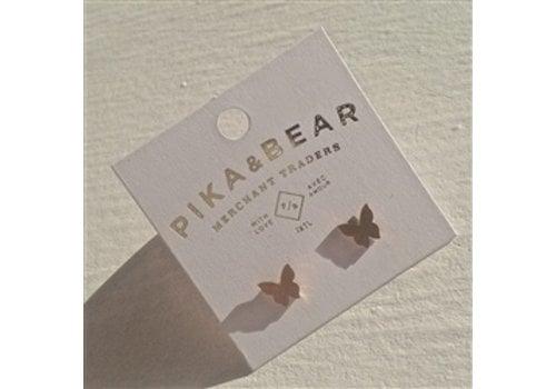 Pika & Bear Levar Butterfly Silhouette Stud Earrings