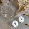 Pika & Bear Anemoi Compass Silhouette Studs