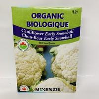 Cauliflower Early Snowball Organic