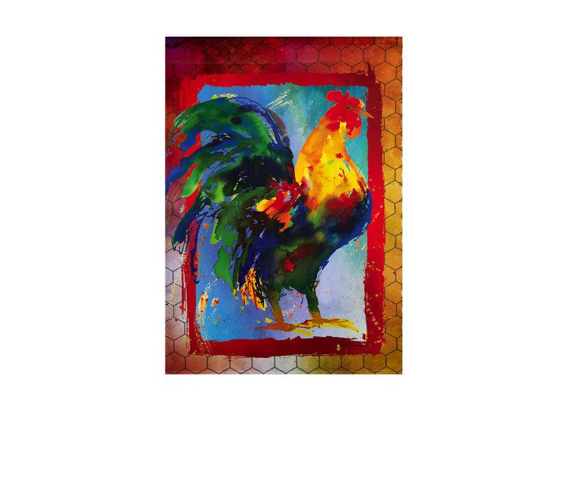 Kauai Rooster Garden Suede Flag