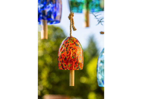 Orange Art Glass Speckle Bell Chime