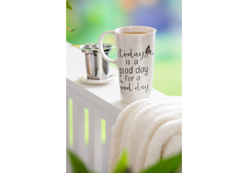 Botanical Dreamer Double Wall Ceramic Cup 12oz