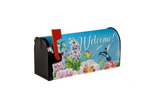 Peonies & Hummingbirds Mailbox Cover