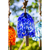 Deep Blue Art Glass Speckle Bell Chime
