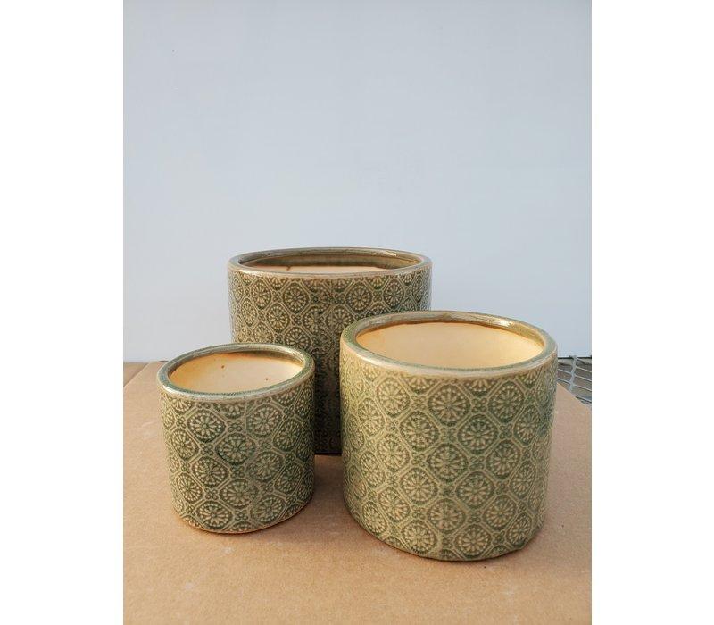Ceramic Pot Celadon Green