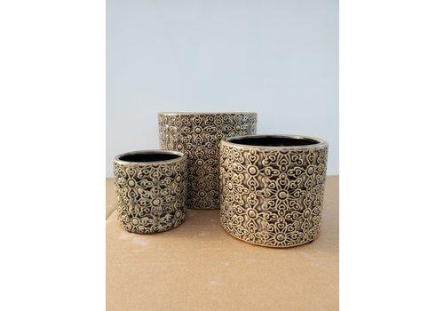 Dutch Growers Ceramic Pot Grey Laser