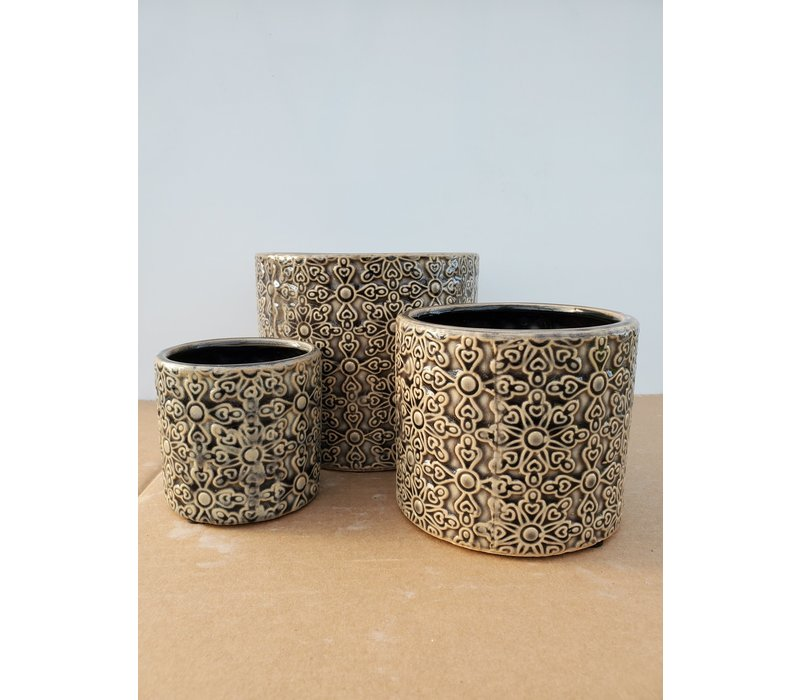Ceramic Pot Grey Laser