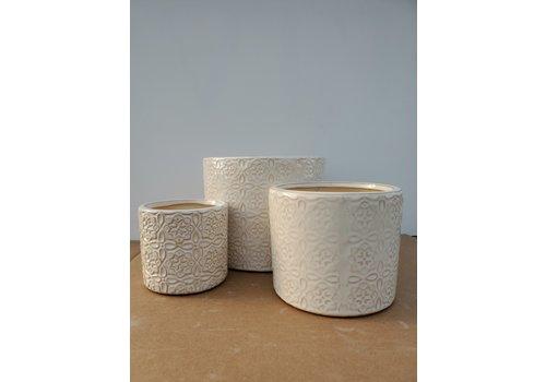 Dutch Growers Ceramic Pot White Laser
