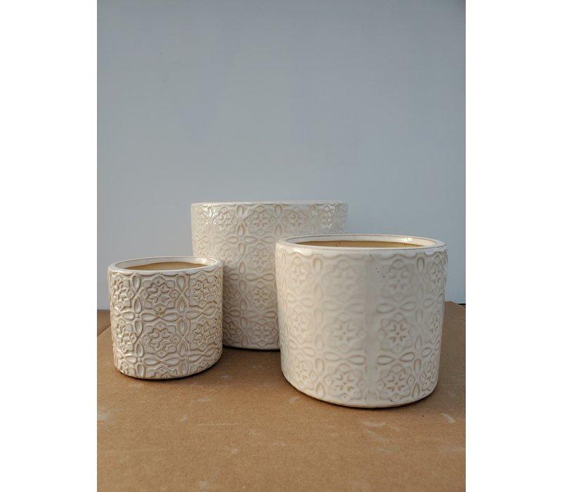 Ceramic Pot White Laser