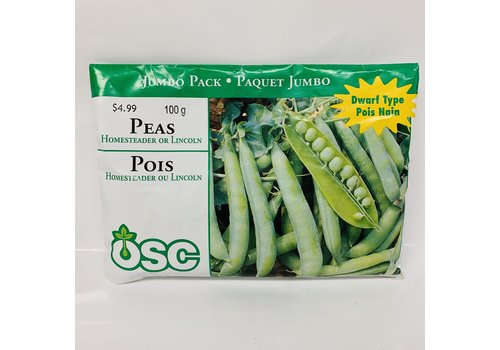 OSC Peas Homesteader Jumbo Pack