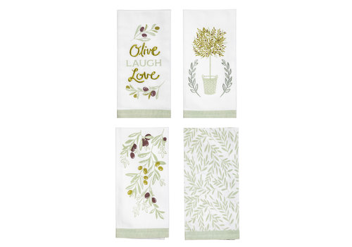 Olive Market Tea Towel