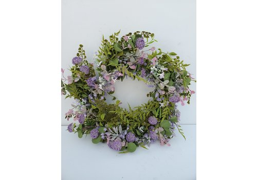 Glenhaven Home & Holiday Lilac Milkweed Wreath 24""