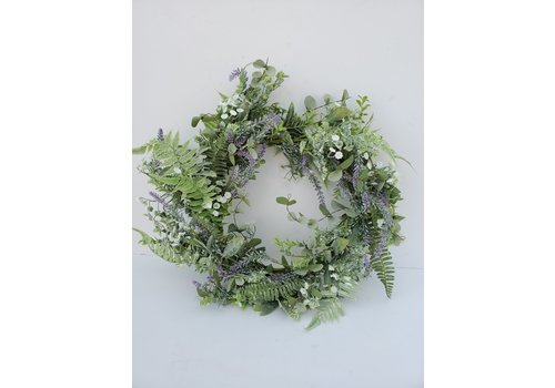 Glenhaven Home & Holiday Dill Lavender Wreath 24""
