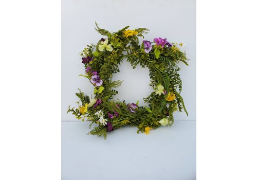 Glenhaven Home & Holiday Mixed Floral Wreath 24""