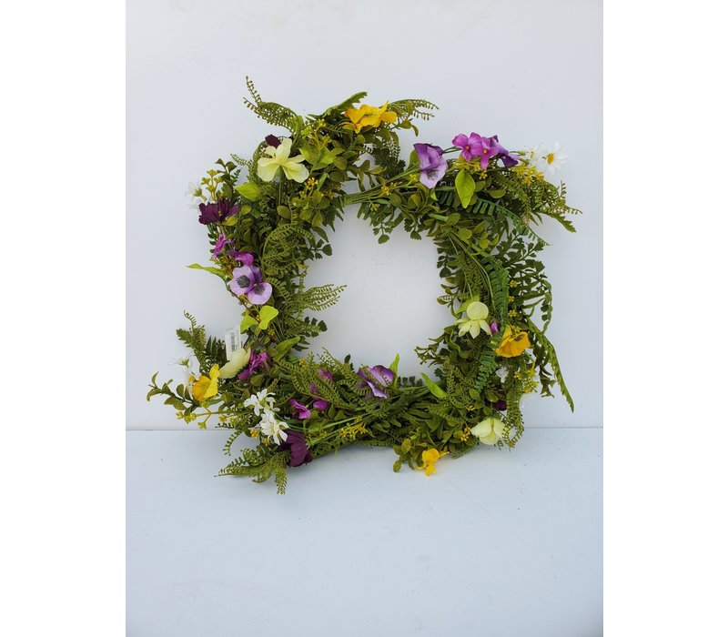 """Mixed Floral Wreath 24"""""""