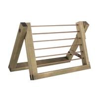 "Natural Green Wooden Air Plant Ladder 9""x6"""