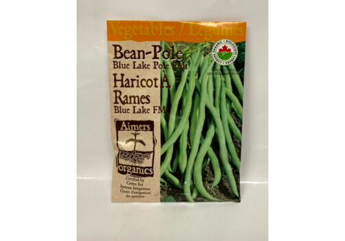 Aimers Organic Organic Beans Blue Lake Pole Fm1