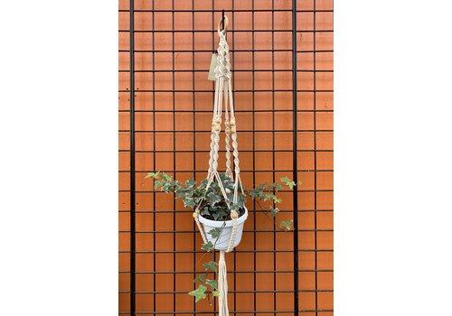 "Primitive Planters Beaded Woven Plant Hanger 42"""