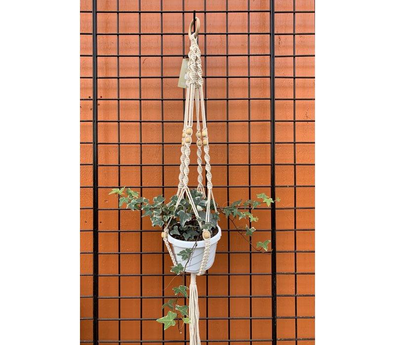 """Beaded Woven Plant Hanger 42"""""""