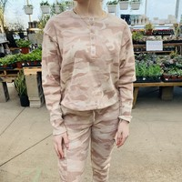 Camo Thermal Button Up Pullover