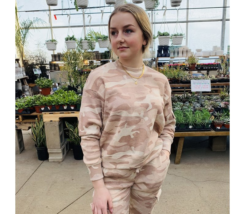 Camo Thermal Pullover