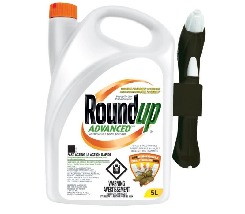 Roundup Advanced RTU Grass and Weed Control With Applicator 5L