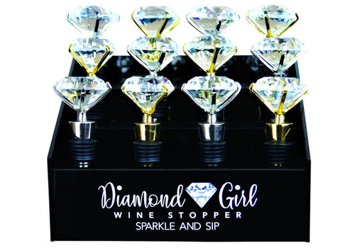 Diamond Girl Wine Stopper