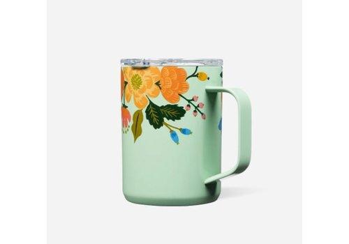 Corkcicle Rifle Paper Mug Gloss Mint Lively Floral 16oz