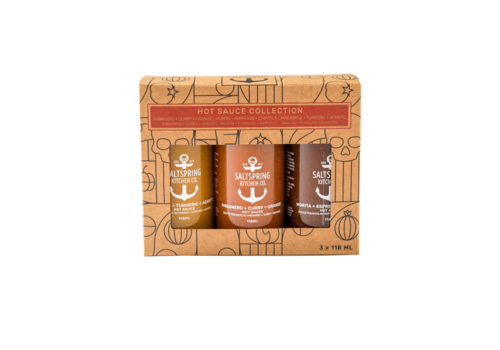 Salt Spring Kitchen Hot Sauce Collection Gift Box 118ml