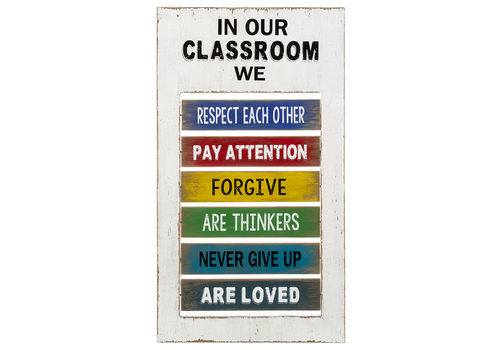 Classroom Spinning Plaque