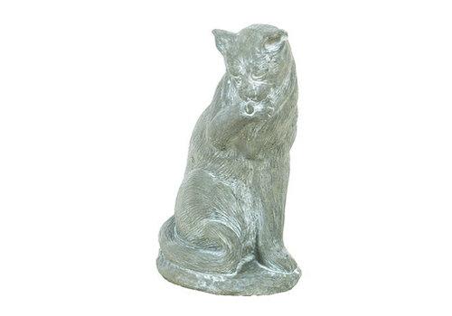 Athens Stonecasting Inc Cat Lick Paw Statue