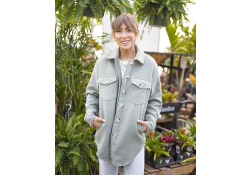 RD Style Solid Button Up Woven Coat