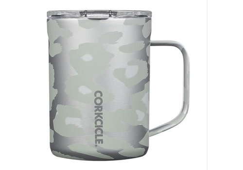 Corkcicle Coffee Mug Snow Leopard 16oz