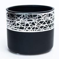 Black/Silver Plated Dolomite Pot