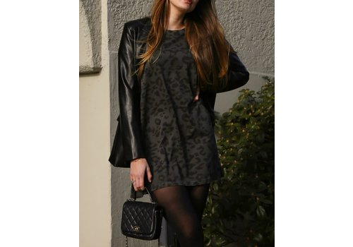 Brunette The Label Leopard Tee Dress