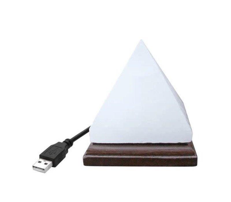 Himalayan Salt Pyramid Lamp White