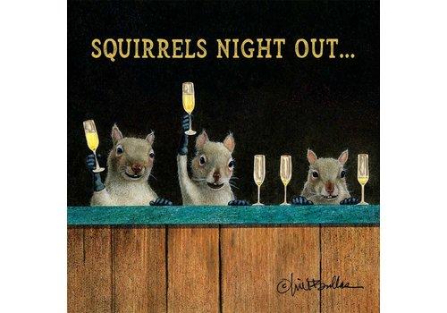 Beverage Napkin Squirrels Night Out